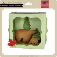Summer Bear Gift Card Shadowbox