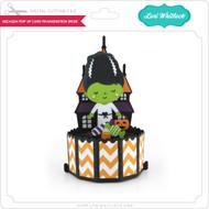 Decagon Pop Up Card Frankenstein Bride