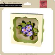 Little Flower Cluster Gift Card Box