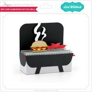 Box Card Hamburger Hot Dog Grill