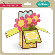 Box Card Flower Pot