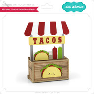Rectangle Pop Up Card Taco Stand