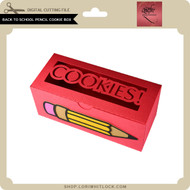Back to School Pencil Cookie Box