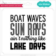 Boat Waves Sun Rays Lake Days