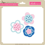 You are My Sunshine - Dotted Flower Trio