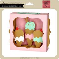 Ice Cream Cone Gift Card Box