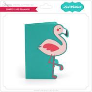 Shaped Card Flamingo