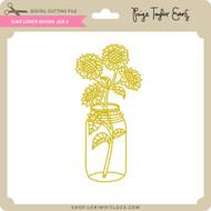 Sunflower Mason Jar 2
