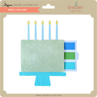 Simple Cake Card