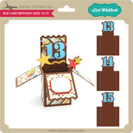 Box Card Birthday Ages 13-15