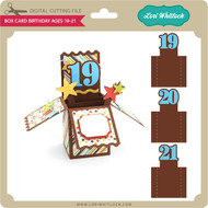 Box Card Birthday Ages 19-21