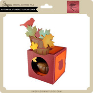 Autumn Leaf Basket Cupcake Box