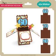 Box Card Birthday Ages 60-80