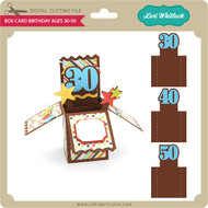 Box Card Birthday Ages 30-50