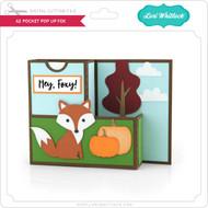 A2 Pocket Pop Up Card Fox