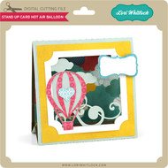 Stand Up Card Hot Air Balloon