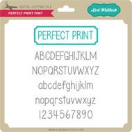 Perfect Print Font