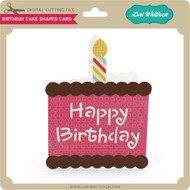 Birthday Cake Shaped Card 2