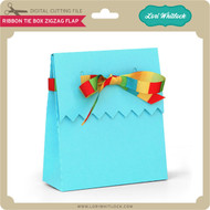 Ribbon Tie Box Zig Zag Flap