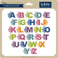 Flourish Block Letters