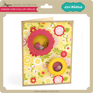 Shaker Card Scalloped Circles