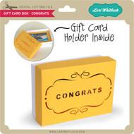 Gift Card Box - Congrats
