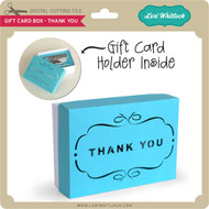 Gift Card Box - Thank You