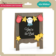 A2 Chalkboard Card Teacher