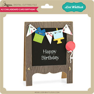 A2 Chalkboard Card Birthday