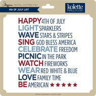4th of July List