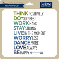 Think Positively List