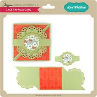 Lace Tri-Fold Card