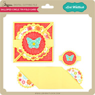 Scalloped Circle Tri-Fold Card