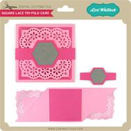 Square Lace Tri-Fold Card
