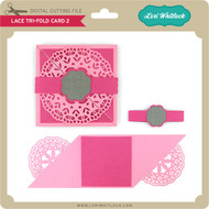 Lace Tri-Fold Card 2