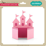 A2 Princess Party Castle Card