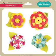 3D Flower Set 12
