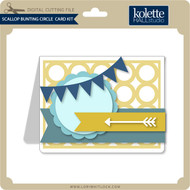 Scallop Bunting Circle Card Kit
