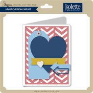 Heart Chevron Card Kit
