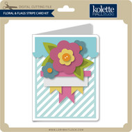 Floral & Flags Stripe Card Kit