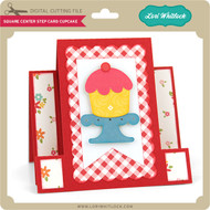 Square Center Step Card Cupcake