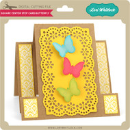 Square Center Step Card Butterfly