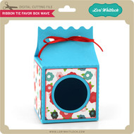 Ribbon Tie Favor Box Wave