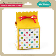 Ribbon Tie Favor Box Scalloped