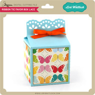 Ribbon Tie Favor Box Lace