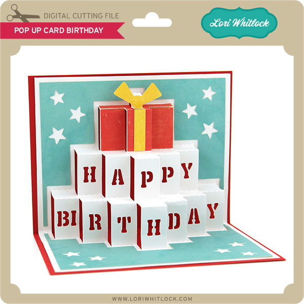 Terrific Pop Up Card Birthday Lori Whitlocks Svg Shop Funny Birthday Cards Online Inifofree Goldxyz