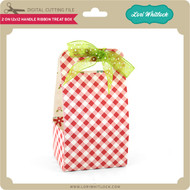 2 on 12x12 Handle Ribbon Treat Box