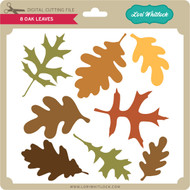 8 Oak Leaves