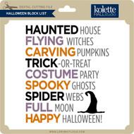 Halloween Block List