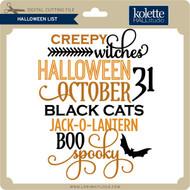Halloween List